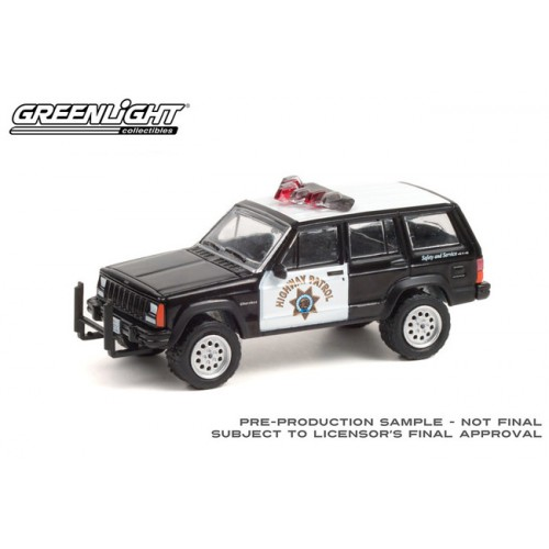Greenlight Hot Pursuit Series 38 - 1993 Jeep Cherokee California Highway Patrol