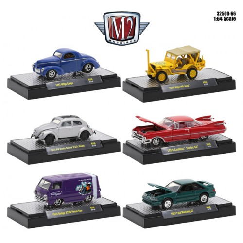 M2 Machines Auto-Thentics Release 66 - Six Car Set