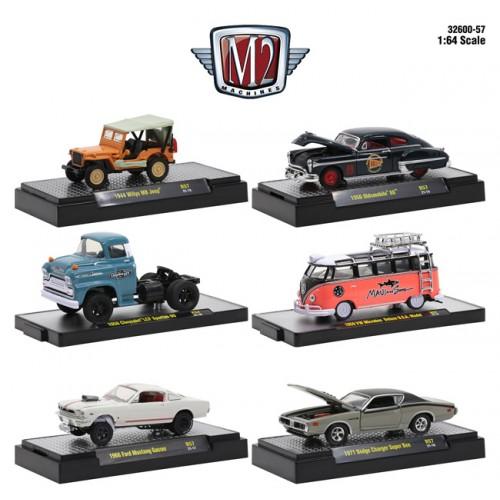 M2 Machines Detroit Muscle Release 57 - Six Car Set