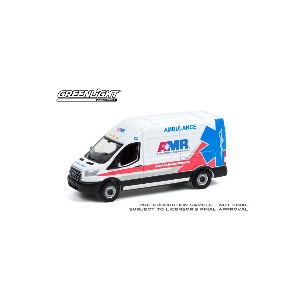 Greenlight Route Runners Series 3 - 2019 Ford Transit AMR Ambulance