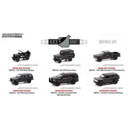 Greenlight Black Bandit Series 25 - Six Car Set