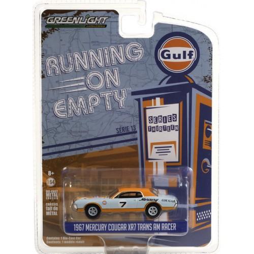 Greenlight Running on Empty Series 13 - 1967 Mercury Cougar XR7 Trans Am Racer Gulf Racing
