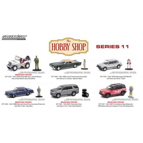 Greenlight The Hobby Shop Series 11 - Six Car Set