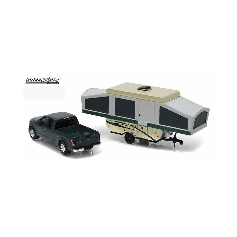 Greenlight Hitch and Tow Series 8 - 2015 Ford F-150 and Pop-Up Camper