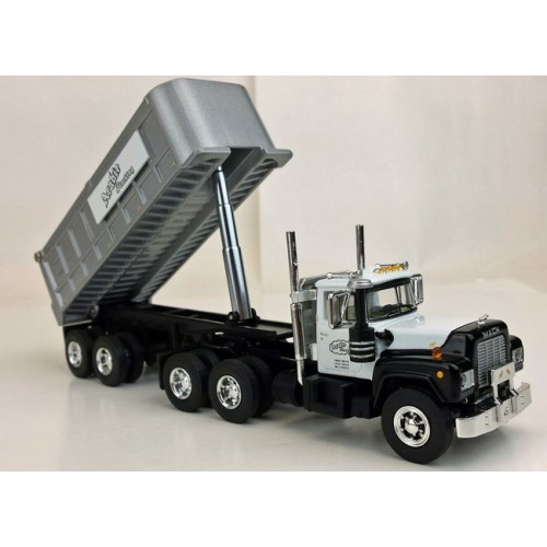 Troy's Toys Exclusive Mack R Model Day Cab with Dump Trailer